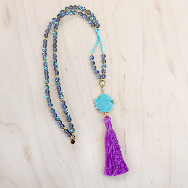 The Natalie - Semi-Precious Mala Necklace