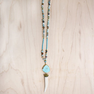 The Waverly - Tusk Mala Necklace