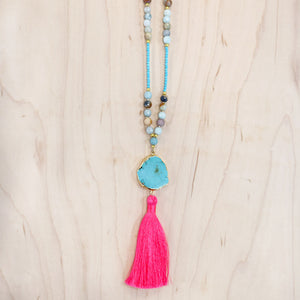 The Molly - Semi-Precious Mala Necklace