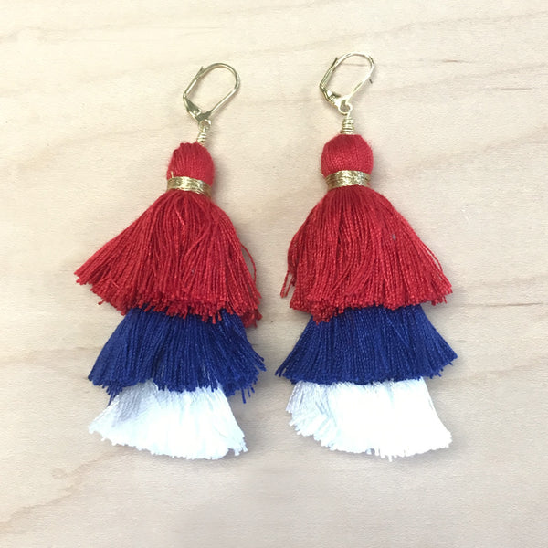 Firework Tassel Earrings