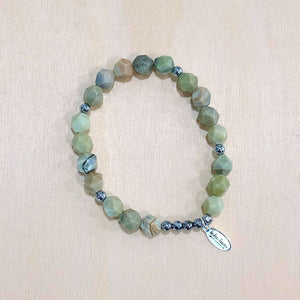 The Florence - butter jade - Semi-precious beads