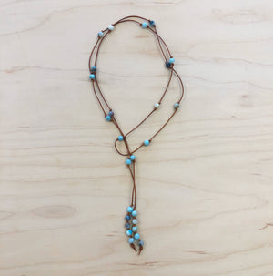 The Tanya - Semi-Precious Lariat Necklace