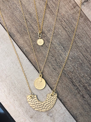 The Sam - Mini Coin Pendant Necklace