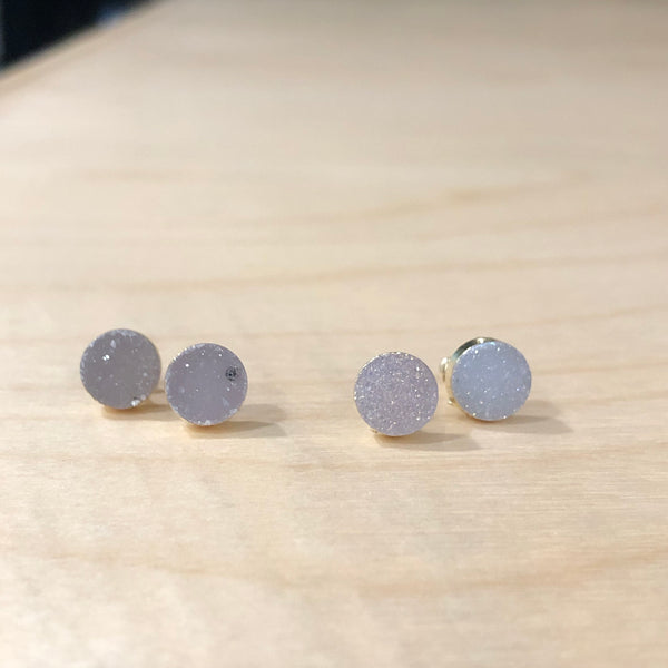 The Mare - gold druzy Studs