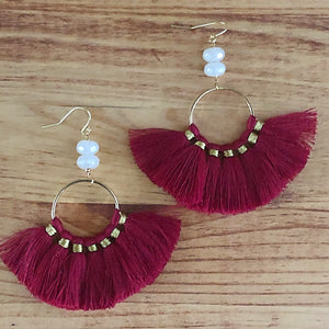 The Cheryl  -  Semi-precious Tassel Earrings
