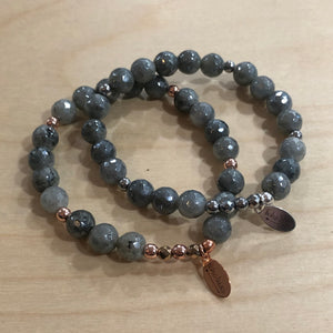 The Addison   - mystic labradorite bracelet
