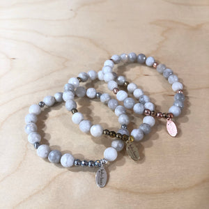The Kathryn  - mystic white agate