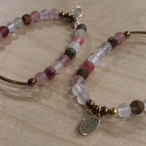 The Ashley -  Cherry quartz bracelet