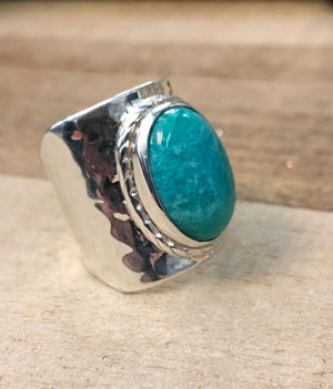 The Vail - Sterling Silver + Amazonite Cuff Ring