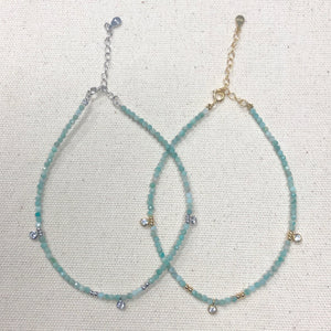 The Brittany - Amazonite anklet