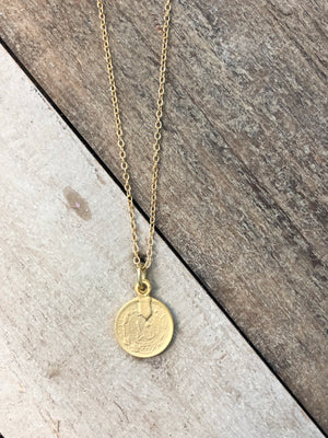 The Brynna - Gold Coin Pendant Necklace