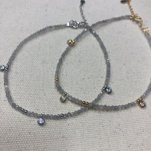 The Brittany - labradorite anklet