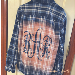 bleached flannel tutorial by Junque 2 jewels