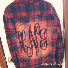diy bleached flannel by Junque 2 Jewels