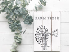 Farm Fresh Windmill Sign Chalk Couture