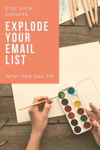 grow your email list on etsy