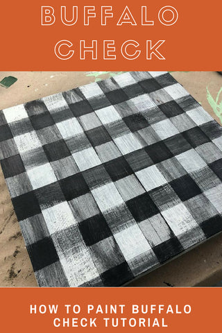How to paint BUffalo Check pattern
