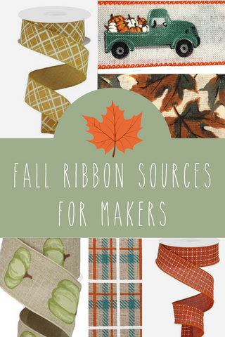 fall ribbon favorites for bow making