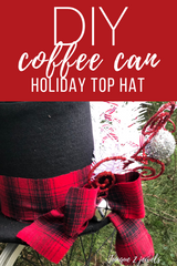 DIY coffee can snowman top hat