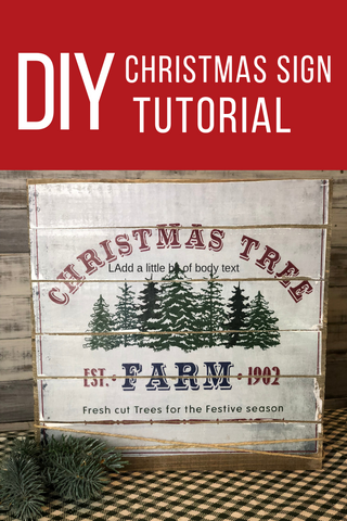 DIY christmas sign turtorial