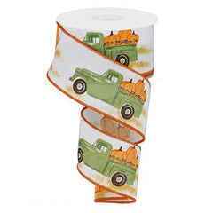 truck pumpkin fall ribbon
