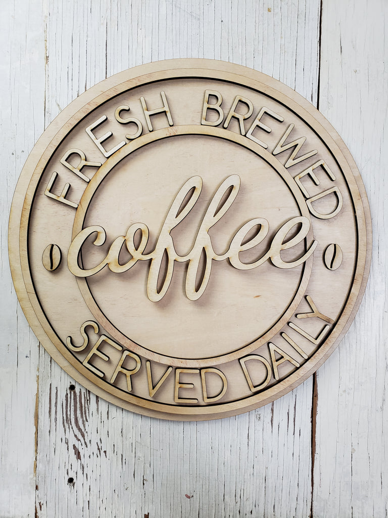 Coffee Bar - Fresh Brewed Daily - BLANK