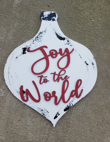 Joy to the World Door Hanger - BLANK