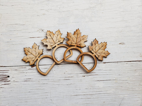 Leaf Napkin Rings (Set of 4)- BLANK