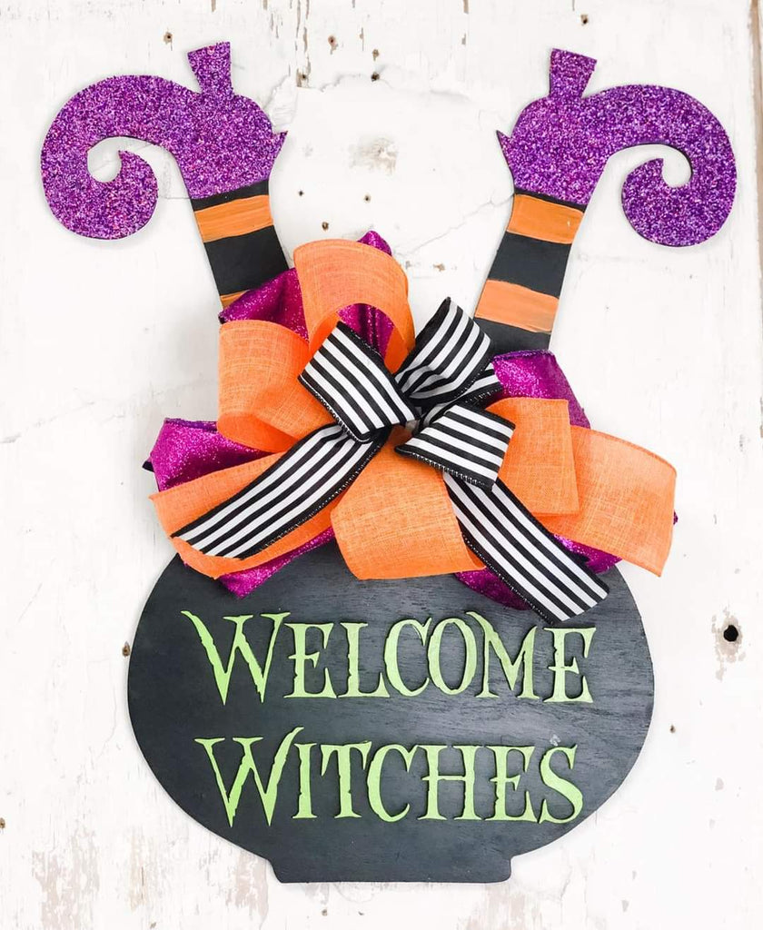 Welcome Witches Door Hanger - BLANK
