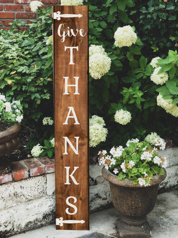 3D Give Thanks Porch Sign Kit - BLANK