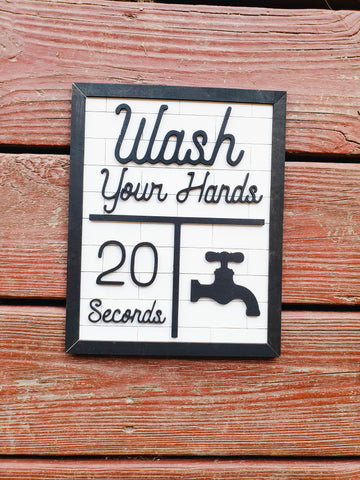 Wash Your Hands Sign - BLANK