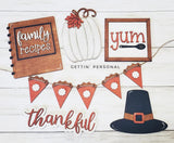 Thanksgiving Tiered Tray Set - BLANK