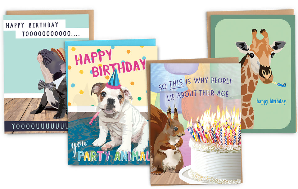 funny birthday cards with animals