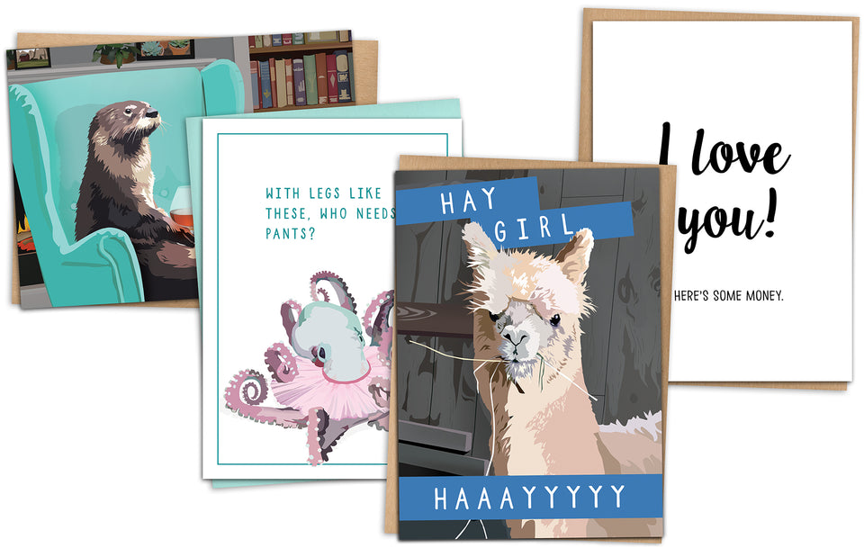 funny greeting cards with animals