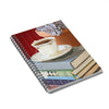 Lined notebooks with spiral binding