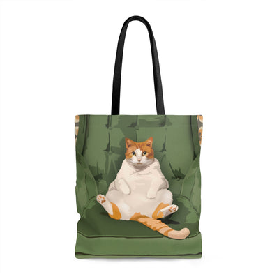 Fat Cat Tote Bag :: Shelby the cat