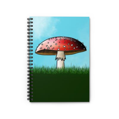 Cheerful Toadstool Spiral Notebook