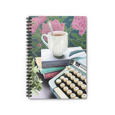 Biblio Teacup and Typewriter Notebook