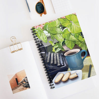 Biblio Coffee and Typewriter Spiral Notebook