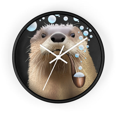 wall clock with otter design