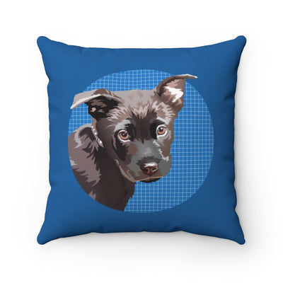Bradley Throw Pillow :: Black Labrador