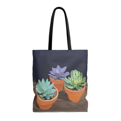 tote bag with succulent design
