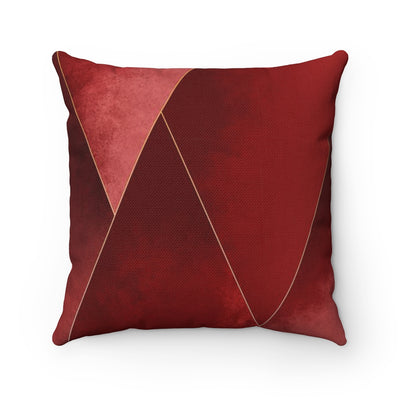 Crimson Tones Throw Pillow