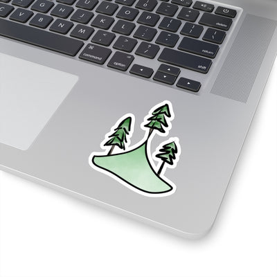 Summiting Mountain and Tree Sticker