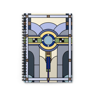 Art Deco Notebook. Stained Glass notebook. Perfect gift for architects.