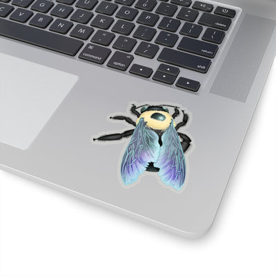 Bumble bee sticker. Bee Laptop Sticker.