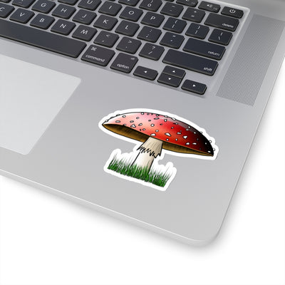 Cheerful Toadstool Sticker