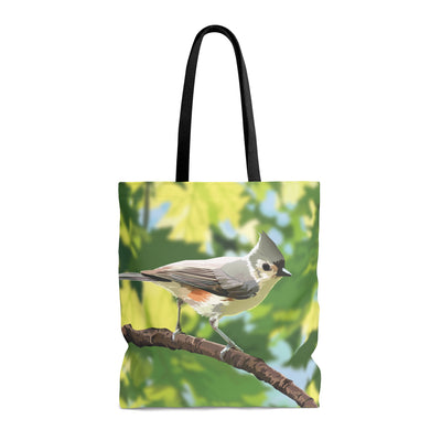 titmouse tote bag