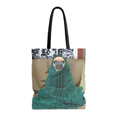 tote bag pug design