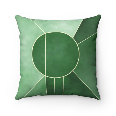 Emerald Radiance Throw Pillow